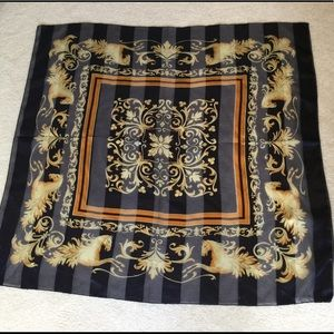 Beautiful Large Horse Design Square Scarf